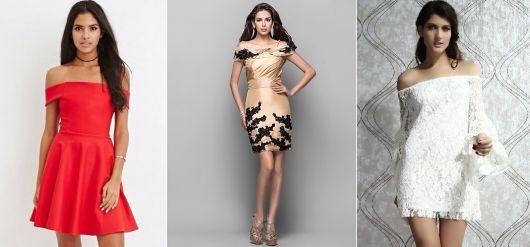 vestido de formatura curto 31 ombros de fora 1