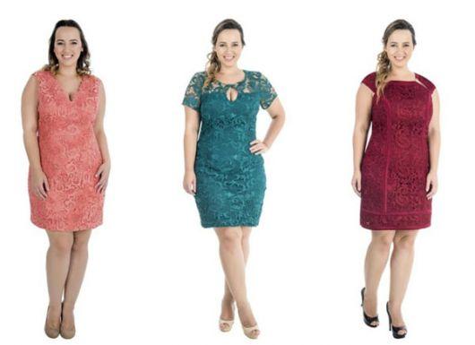 vestido de formatura curto 44 modelos plus size