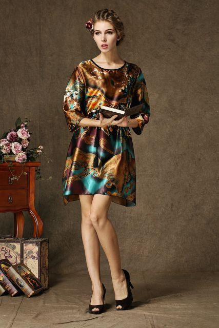 vestidos de seda estilosos para usar de dia