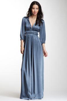 vestidos de seda com manga longa