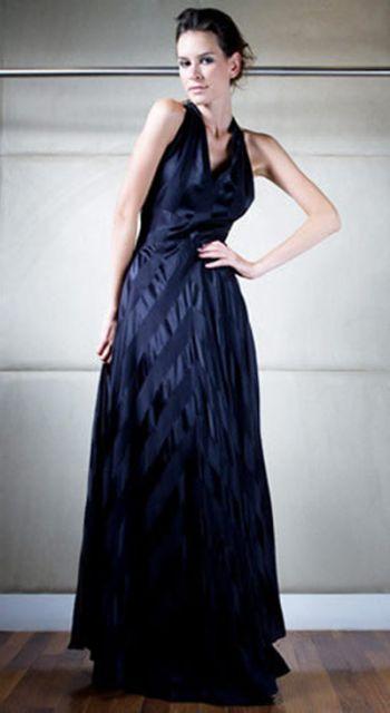 modelos de vestidos de seda longa