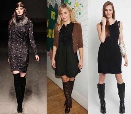 Traje social feminino com bota
