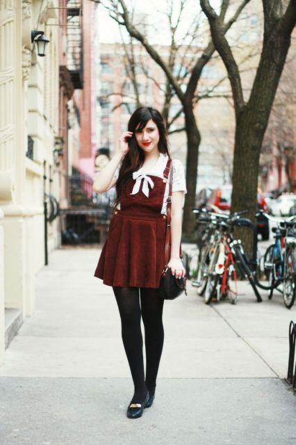 vestido com meia