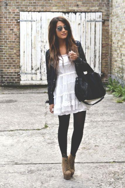 Black And White Polka Dot Cardigan Sweater