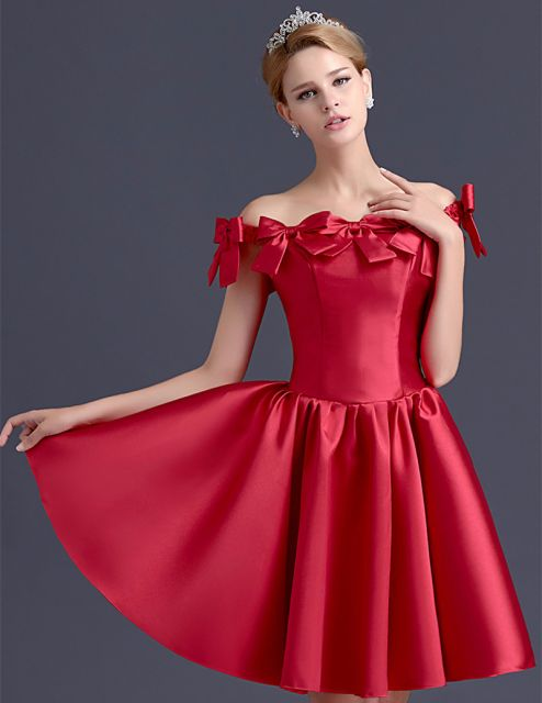 vestido ombro a ombro vermelho curto para festa
