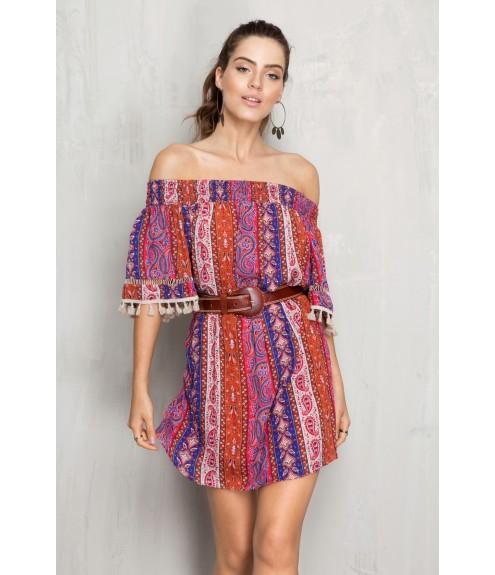 estilos de vestido ombro a ombro