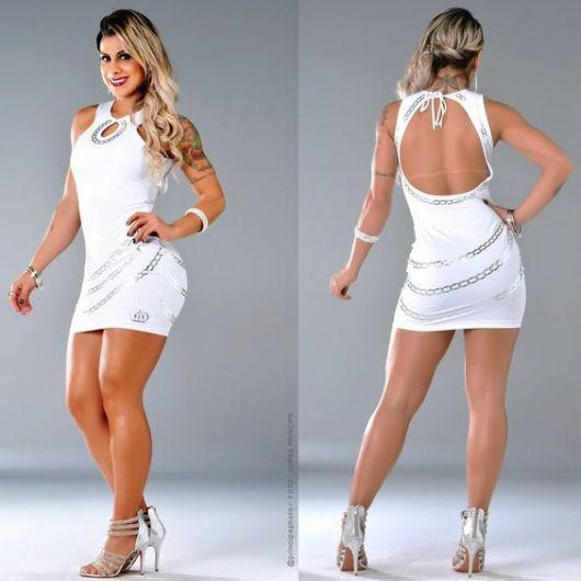 vestido panicat liso branco