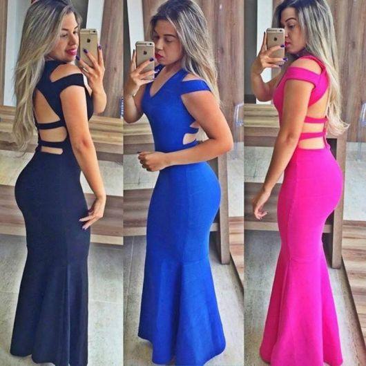 vestido panicat longo cores lisas