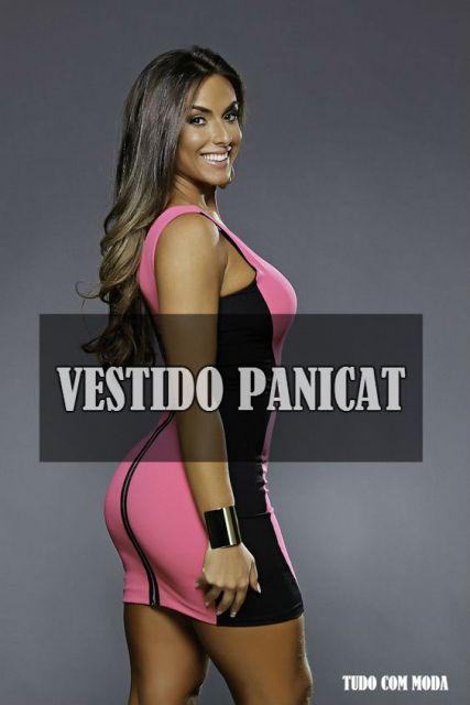 vestido panicat nicole bahls rosa