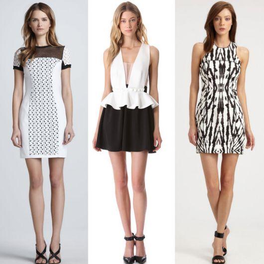 vestido preto e branco para todas as ocasiões
