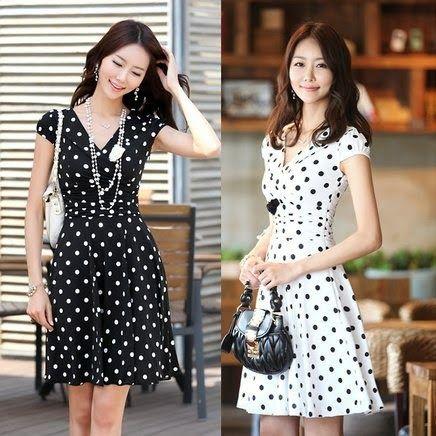 vestido preto e branco rodado de poás