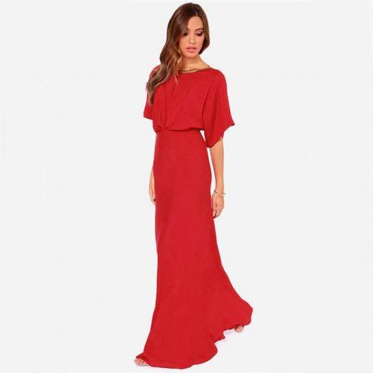 vestido vermelho com manguinhas