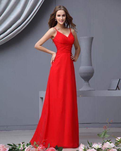 vestido vermelho longo social de alcinha