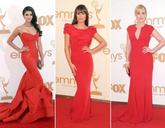 3 modelos de vestido vermelho longo social