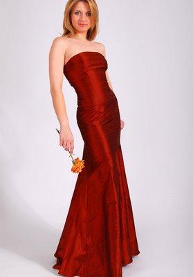 vestido vermelho longo social tafetá