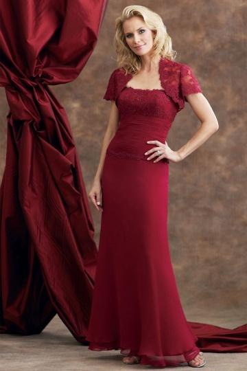 vestido vermelho longo social com bolero