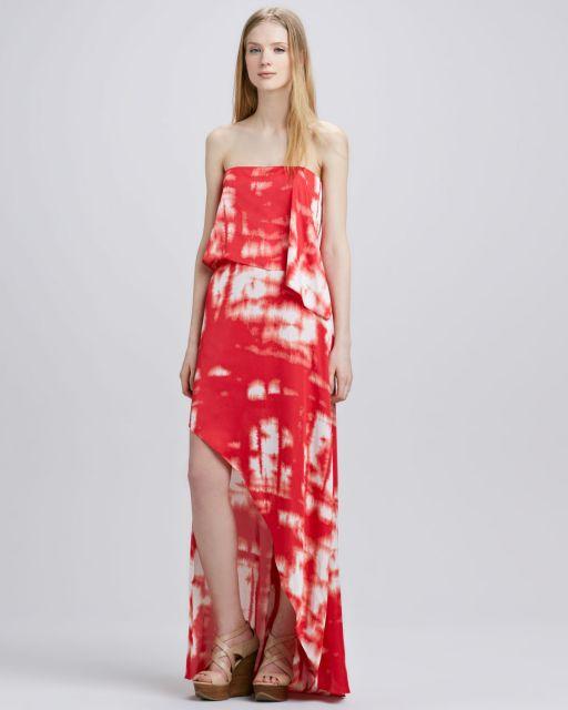 vestido vermelho longo tie dye