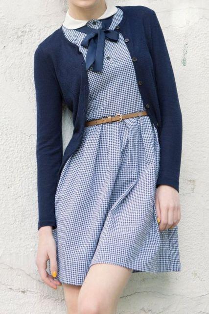 vestido vintage cardigan
