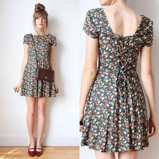 vestido vintage flores