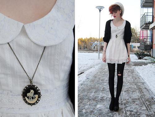 vestido vintage gola peterpan