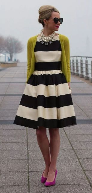 vestido vintage listras