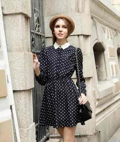 vestido vintage p&b