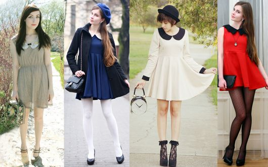 vestido vintage peterpan