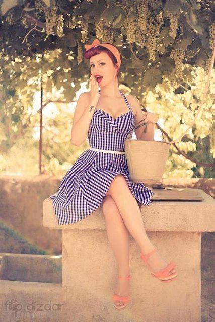 vestido vintage pinup