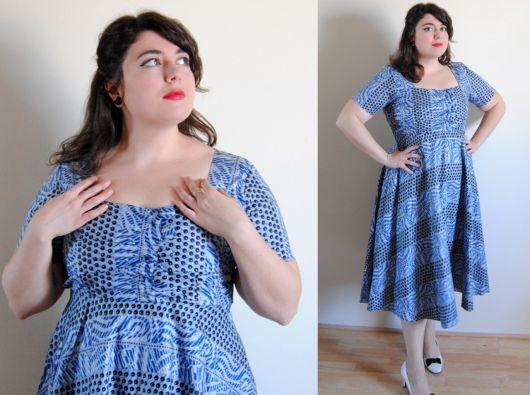 vestido vintage plus size