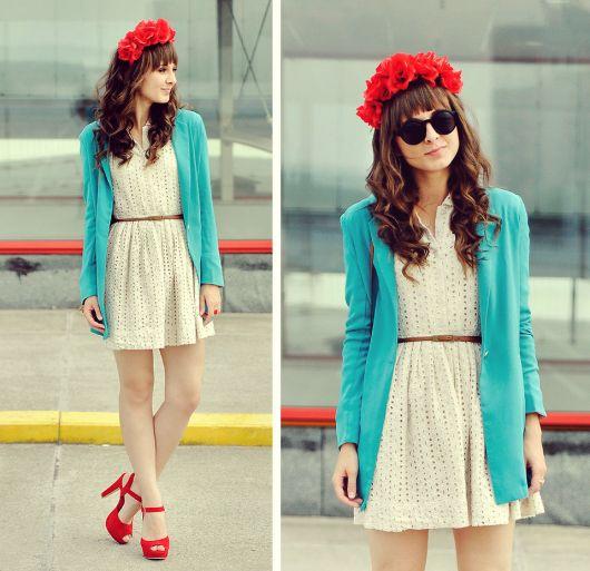 vestido vintage renda