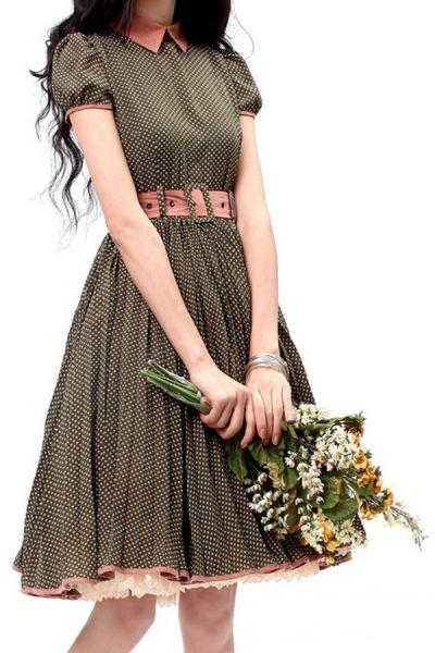 vestido vintage romântico