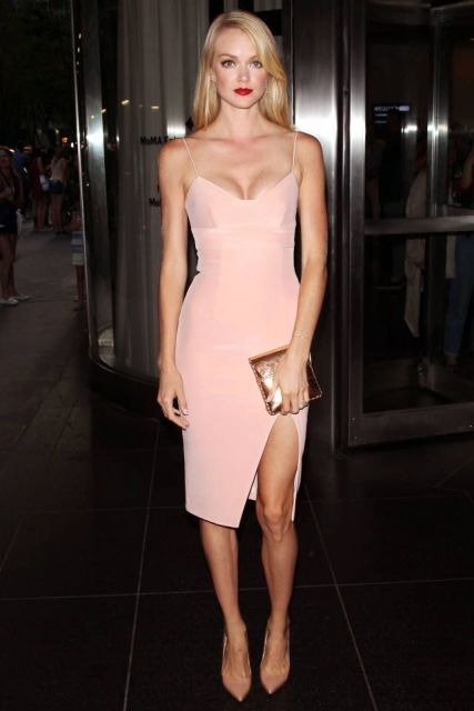 vestido rosa de alcinha