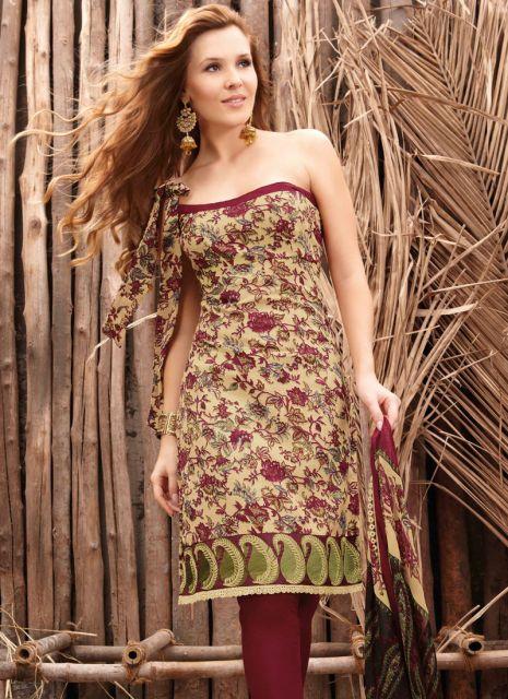 vestido indiano curto colorido com calça