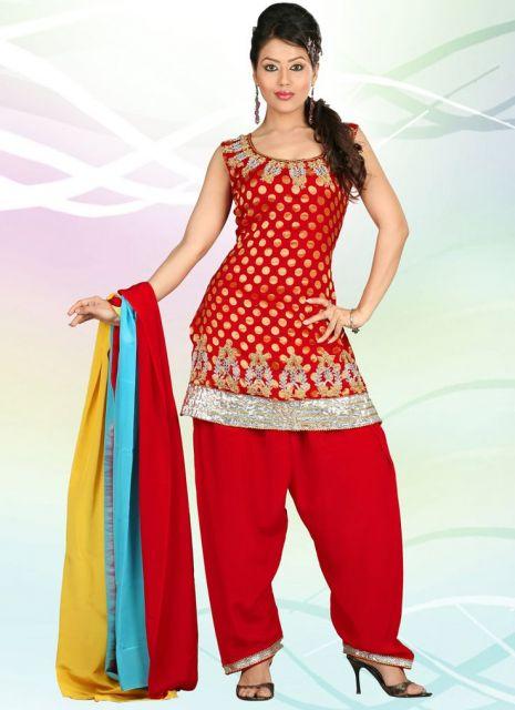 vestido indiano curto salwar vermelho