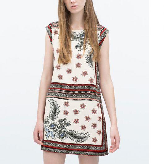 vestido indiano curto simples