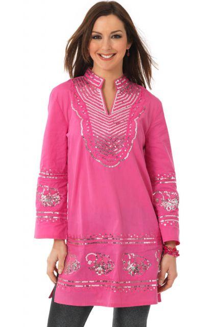 vestido indiano curto rosa com calça