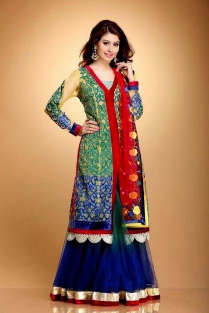punjabi suit colorido