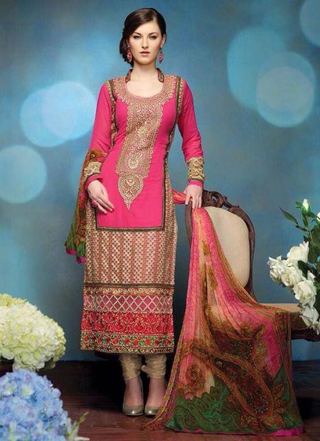 punjabi suit rosa
