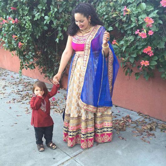 vestido indiano plus size com sari