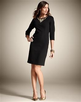 vestidos para senhoras basico curto preto