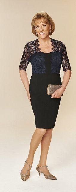 21dc77ca7d vestidos para senhoras preto com casaco de renda
