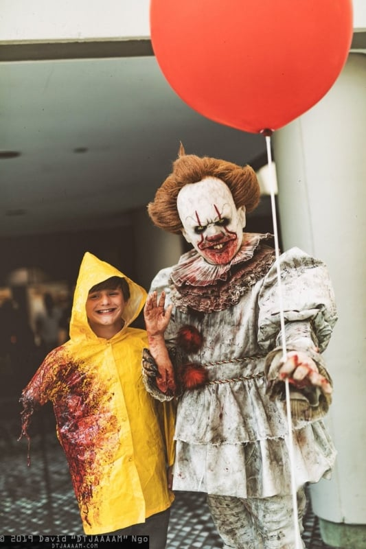 Fantasia do Palhaço Pennywise e Georgie do Filme It