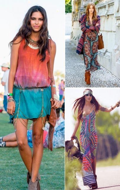 Moda hippie COLORIDOS