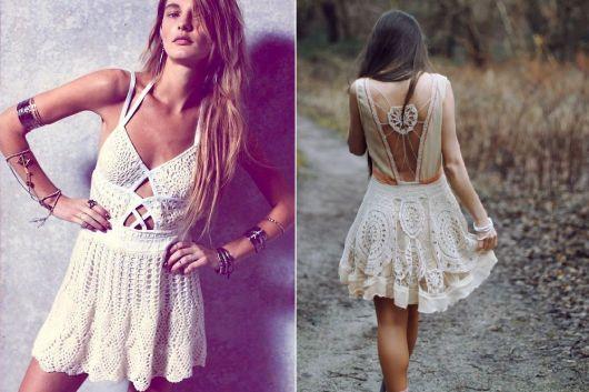 Moda hippie crochê