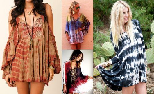Moda hippie tie die