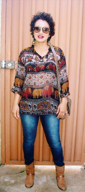 batas indianas com calça jeans