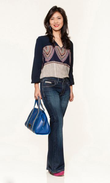 looks com batas indianas e jeans