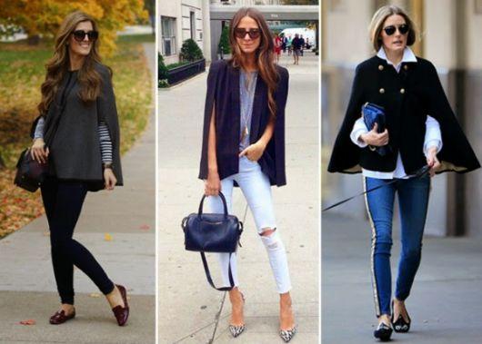 blazer capa  com calça jeans