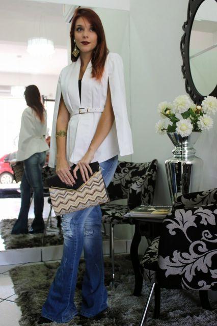 blazer capa combinando com calça jeans