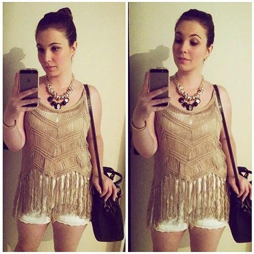 blusa de crochê com franja look balada